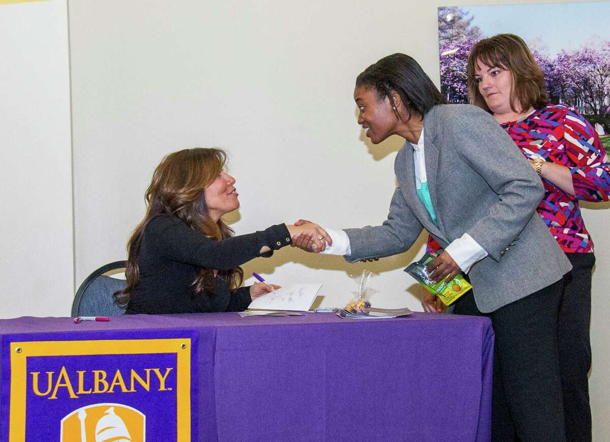 Were you Seen at the UAlbany Homecoming Weekend kickoff luncheon with Lisa Lillien, Class of '87 and author and creator of the Hungry Girl brand, on the UAlbany campus on Friday, Oct. 18, 2013?