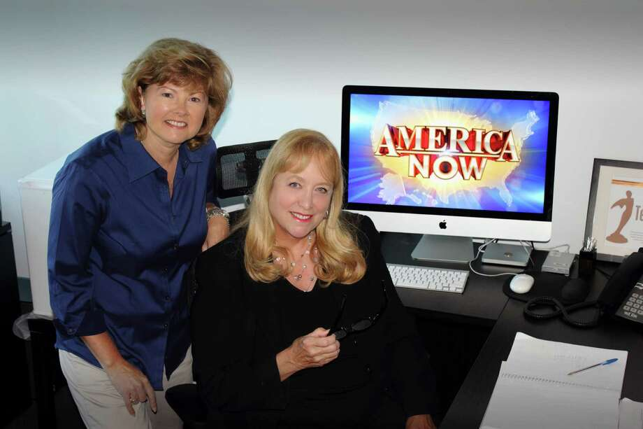 "Vicky Landin, left, and Dana Millikin are the Houston natives who run the syndicated news show ""America Now."" Photo: --"
