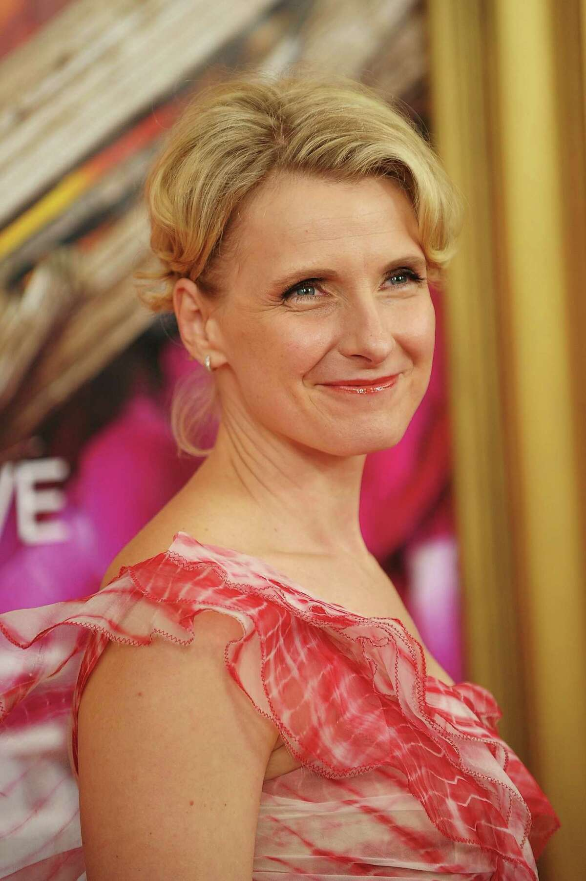 "Elizabeth Gilbert Writer Elizabeth Gilbert attends the film premiere of ""Eat Pray Love"" in 2010 in New York City."