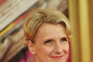 "NEW YORK - AUGUST 10:  Writer Elizabeth Gilbert attends the premiere of ""Eat Pray Love"" at the Ziegfeld Theatre on August 10, 2010 in New York City.  (Photo by Michael Loccisano/Getty Images)"