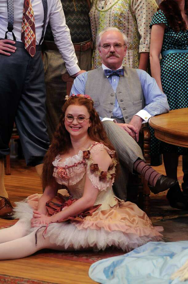 Melissa Pritchett as Essie and James Black as Martin Vanderhof during rehearsals for You Can't Take it With You at the Alley Theatre Tuesday Sept. 17 2013.(Dave Rossman photo) Photo: Dave Rossman, Freelance / © 2013 Dave Rossman