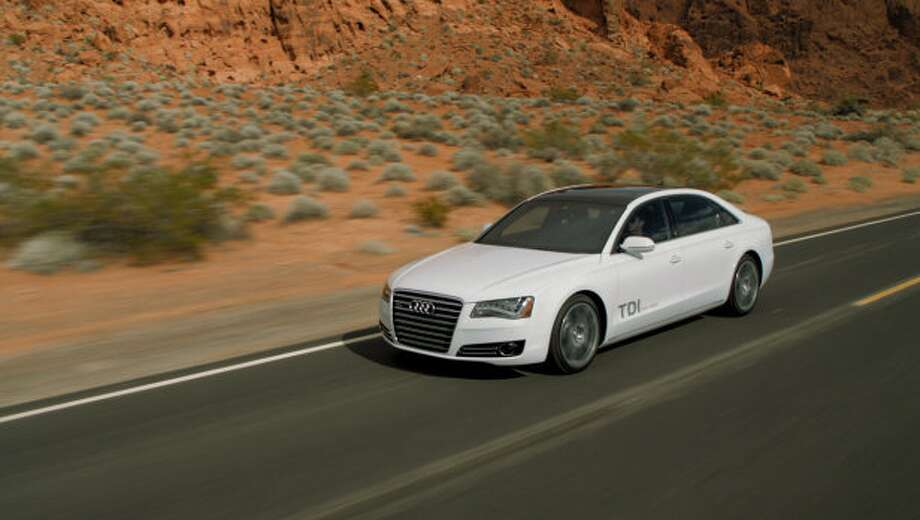 Model:  2014 Audi A6 TDIA start-stop system aids efficiency, as does a lightweight body that makes extensive use of aluminum body panels.Source: Green Car Journal Photo: Autoblog.com