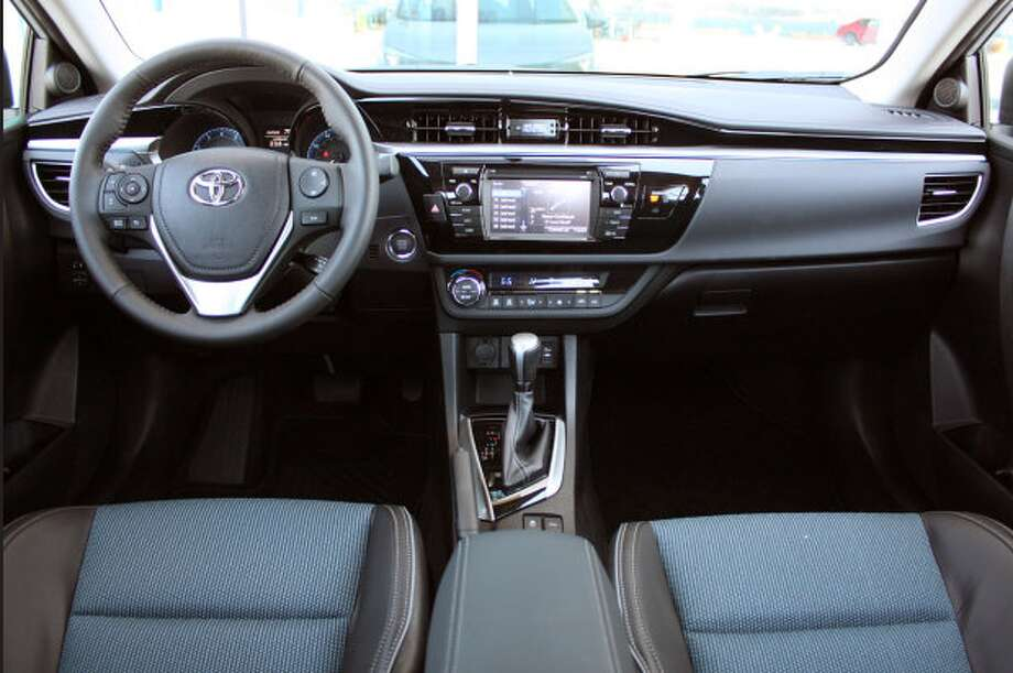 Model:  2014 Toyota CorollaThis level of efficiency is achieved with a 1.8-liter, 140 horsepower engine featuring the first use of Toyota's Valvematic technology in this country.Source: Green Car Journal Photo: Autoblog.com