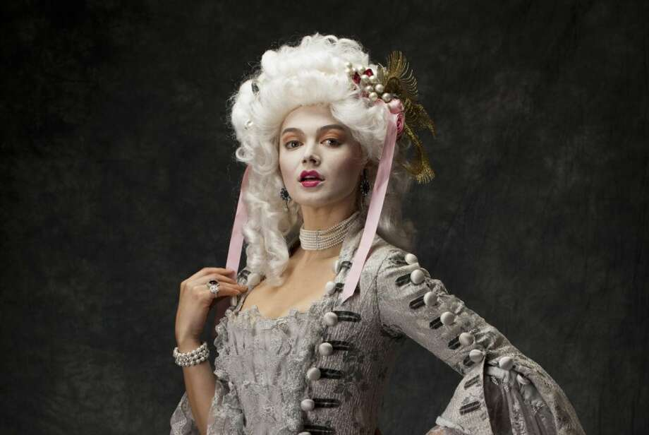 A model channels Marie Antoinette.