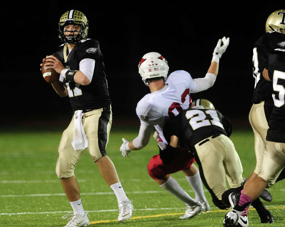 Football action between Trumbull and Greenwich in Trumbull, Conn. on Friday October 18, 2013. Photo: Christian Abraham / Connecticut Post