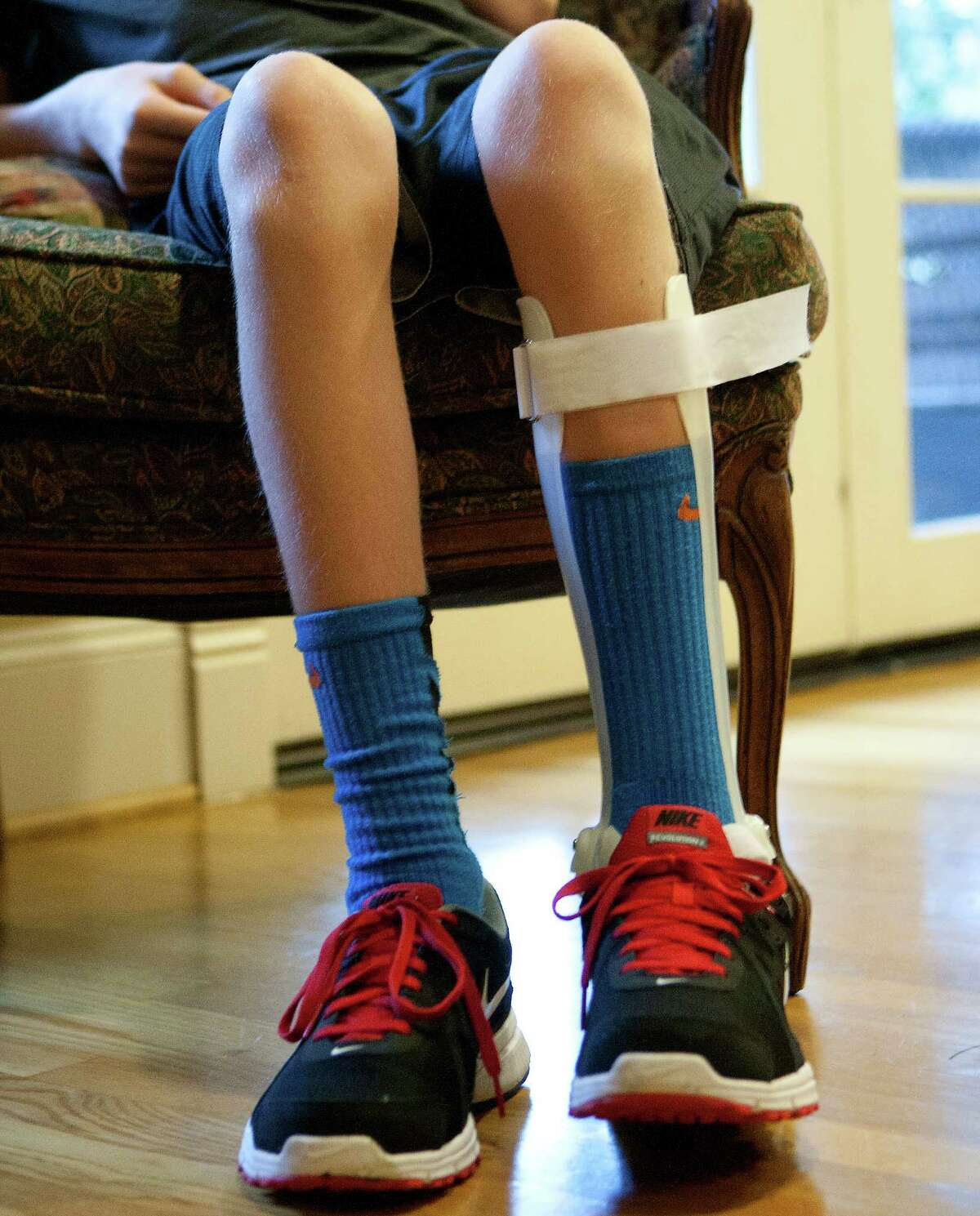 Justin Davis, 12, found out two months ago that he has a rare genetic disorder that causes a decline in mental function and physical movement.