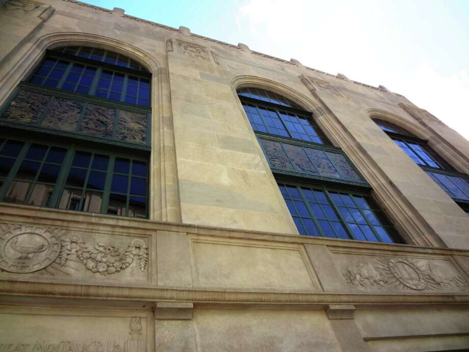 The grand Art Deco facade of the old main library, restored as the Briscoe Western Art Museum. Photo: San Antonio Express-News