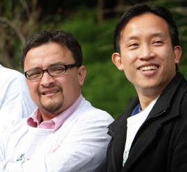 Combatants David Campos (left) and David Chiu have a whole lot in common.