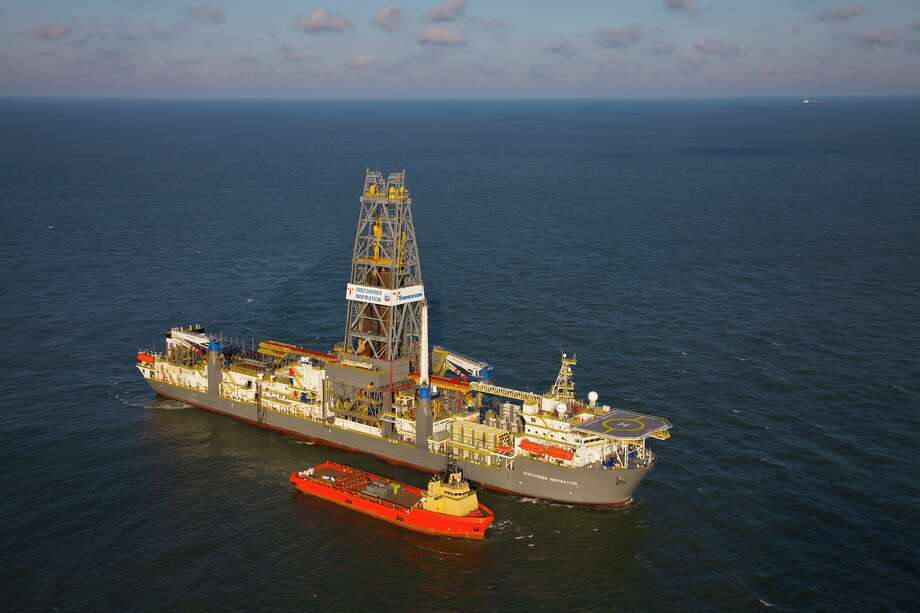 Transocean's Discoverer Inspiration drilled a test well for Chevron in the Gulf of Mexico's St. Malo field that reached a production rate of more than 13,000 barrels of oil per day, Chevron said early this year. / handout