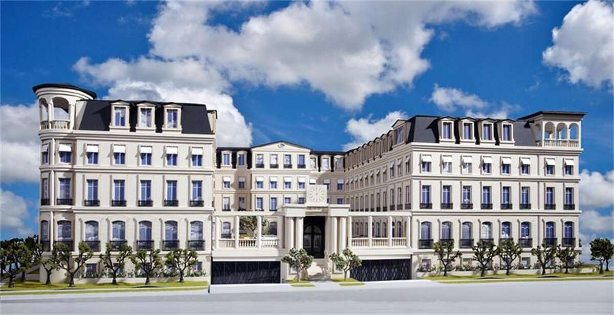 A rendering of Saint Honoré, a Parisian-inspired complex of 10 residences in the River Oaks area. A buyer has agreed to pay $3.15 million for a residence.