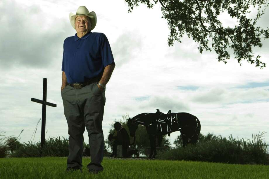 "Former Oilers coach O.A. ""Bum"" Phillips, shown in 2010, spent the last several years of his life at his ranch near Goliad. Photo: Brett Coomer, Staff / Beaumont"