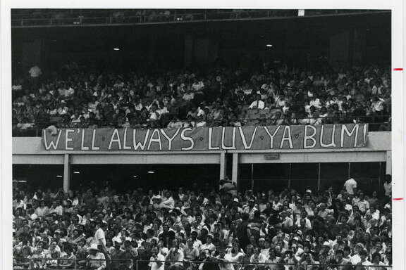 Message to Bum Phillips from the Oilers' fans in 1982.