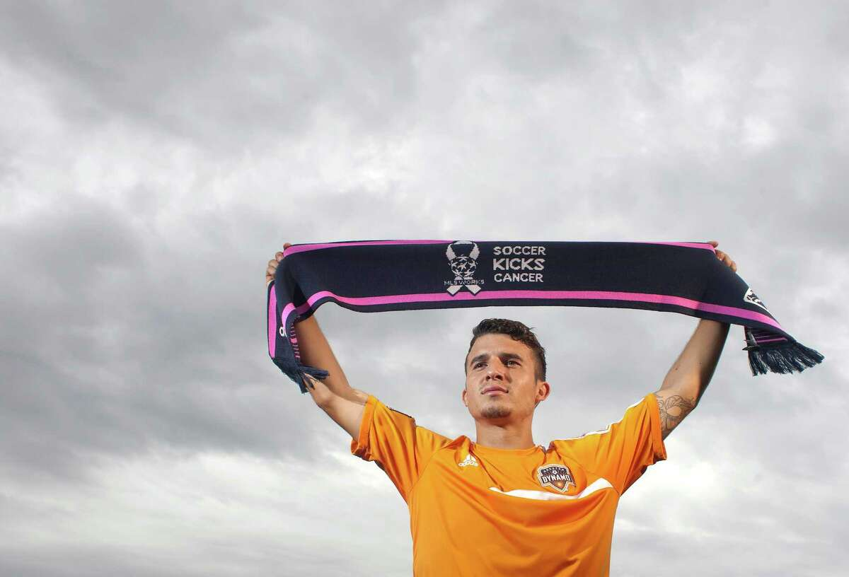 For Dynamo midfielder Servando Carrasco, his support for National Breast Cancer Awareness Month touches close to home. Carrasco's mother is a survivor of breast cancer and uterine cancer.