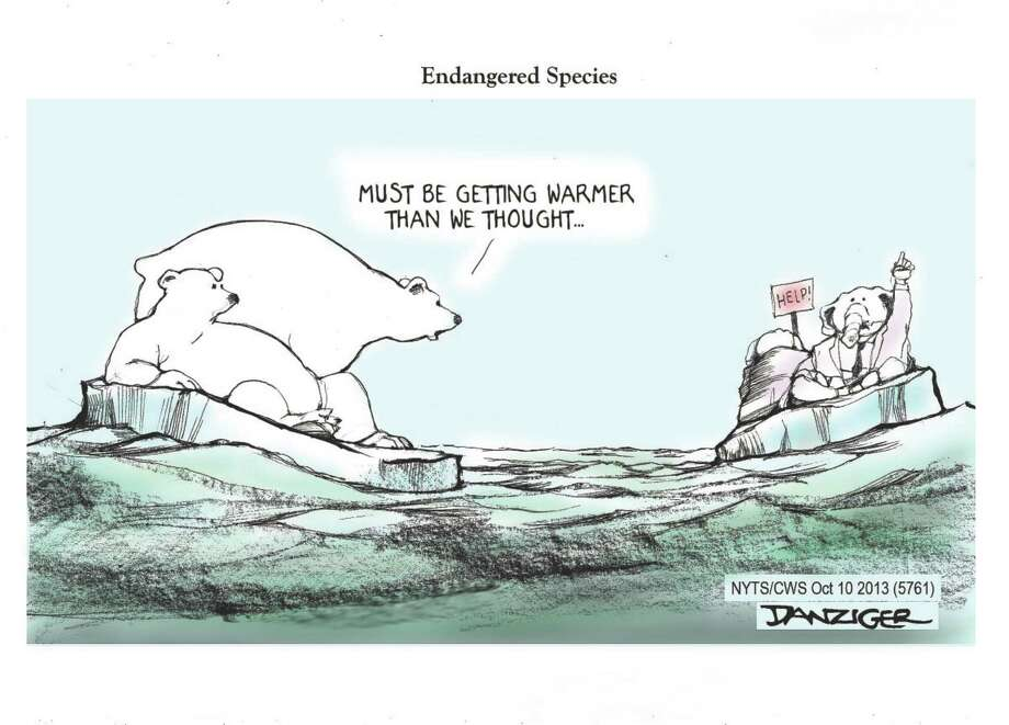GOP, Republicans, polls, endangered species, political cartoon Photo: JEFF DANZIGER / c Jeff Danziger 2013