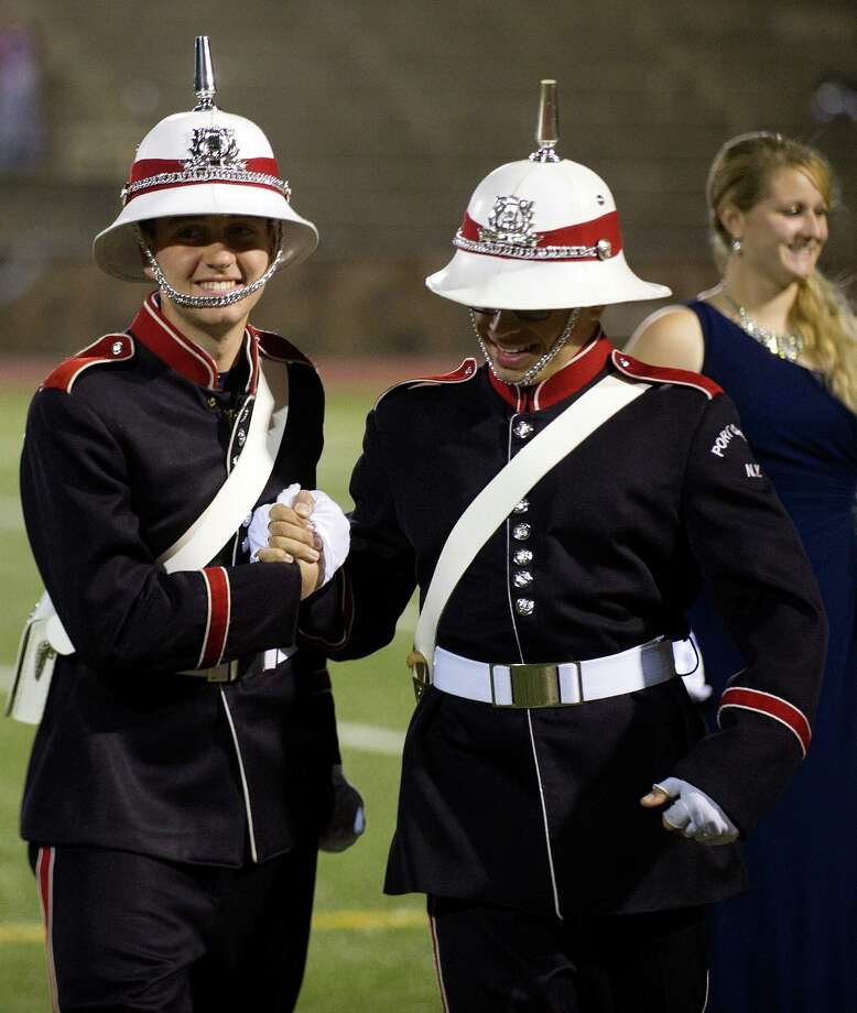 Knight Music!, a regional marching band competition at Stamford High School on Saturday, October 19, 2013. Photo: Lindsay Perry / Stamford Advocate