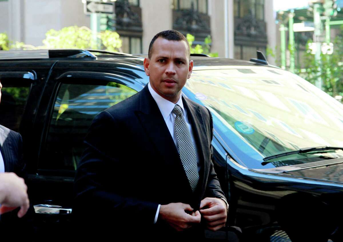 FILE- In this Oct. 1, 2013, file photo, New York Yankees' Alex Rodriguez arrives at the offices of Major League Baseball for grievance hearing in New York. Rodriguez allegeldy paid $305,000 for evidence that could be used in the case involving the Biogenesis of America drug clinic, the Daily News reported Saturday, Oct. 19, 2013. The allegation was denied by a spokesman for the Yankees' third baseman. Rodriguez was suspended Aug. 5 but was allowed to keep playing pending a decision on the grievance. (AP Photo/David Karp, File) ORG XMIT: NY150