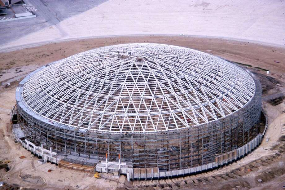 While the Wilson, Morris, Crain and Anderson architecture firm is often cited as the firm that designed the Astrodome, it was also designed by Lloyd and Morgan firm, when Arthur Jones was not yet a partner. Photo: Unknown, Houston Post / Post negatives file