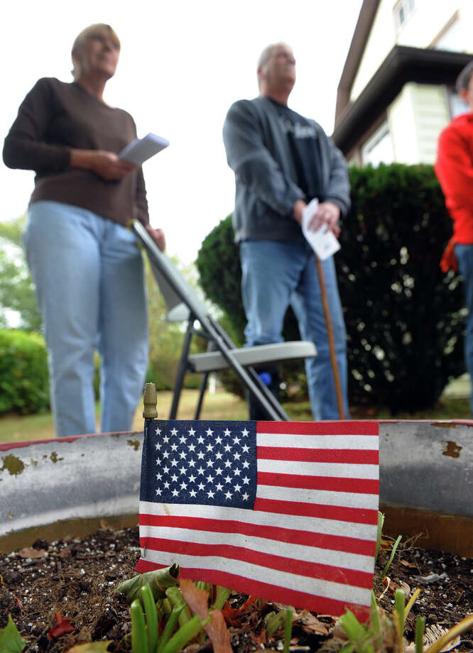 Volunteers with the Connecticut Chapter of House of Heroes, came out to three homes in Connecticut, two of them in Stratford, to do clean-up and repairs for the homeowners who are veterans, using some of the tools shown, in Stratford, Conn. on Saturday October 19, 2013. Photo: Christian Abraham / Connecticut Post