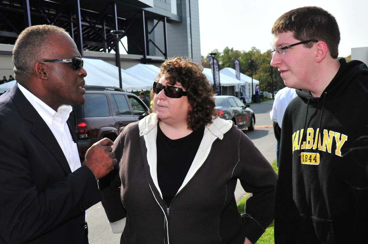 Were you Seen at the UAlbany Homecoming Weekend football game versus Towson University at Bob Ford Field on Saturday, Oct. 19, 2013?
