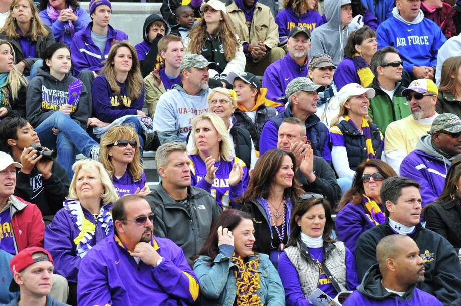 Were you Seen at the UAlbany Homecoming Weekend football game versus Towson University at Bob Ford Field on Saturday, Oct. 19, 2013? Photo: Mark Schmidt / University At Albany
