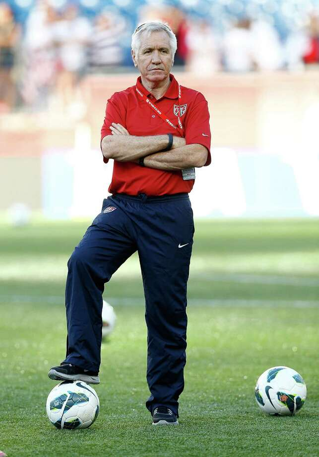 FOXBORO, MA - JUNE 15: US Womens National team head coach Tom Sermanni looks on during warm ups prior to the game against Korea Republic at Gillette Stadium on June 15, 2013 in Foxboro, Massachusetts. (Photo by Jared Wickerham/Getty Images) Photo: Jared Wickerham / 2013 Getty Images
