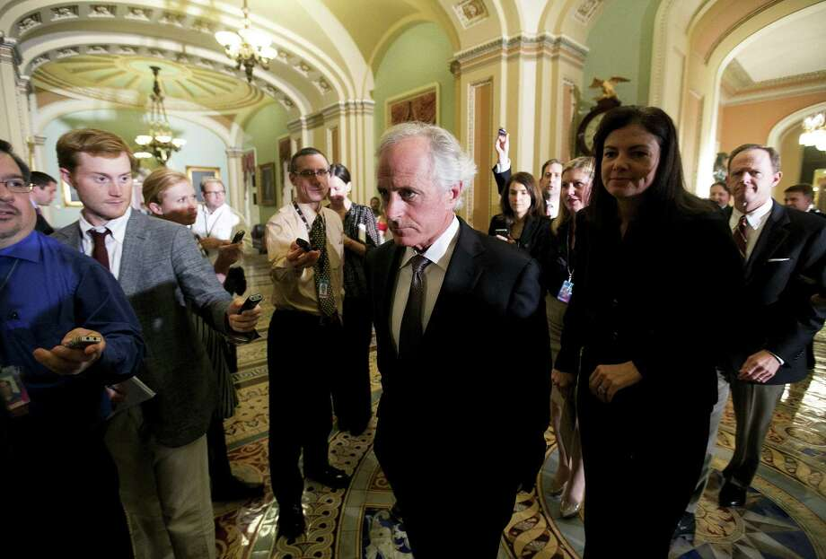 "Sen. Bob Corker, R-Tenn., said about the budget fight: ""I have to believe the American people are totally fatigued with this issue, and to be candid, I am pretty fatigued with it myself."" Photo: Doug Mills / New York Times"