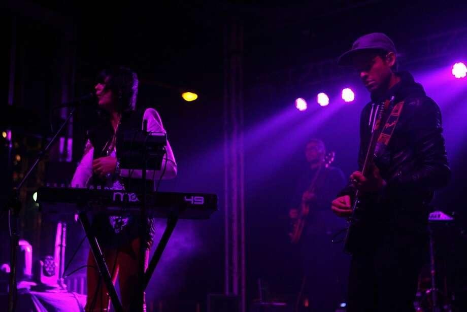 Phantogram perform at the Treasure Island Music Festival in San Francisco, Calif. on Saturday, Oct. 19, 2013. Photo: Raphael Kluzniok, The Chronicle