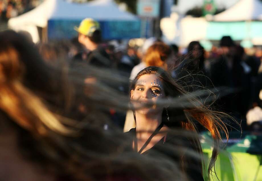 Marley Grenafege dances at the Treasure Island Music Festival in San Francisco, Calif. on Saturday, Oct. 19, 2013. Photo: Raphael Kluzniok, The Chronicle