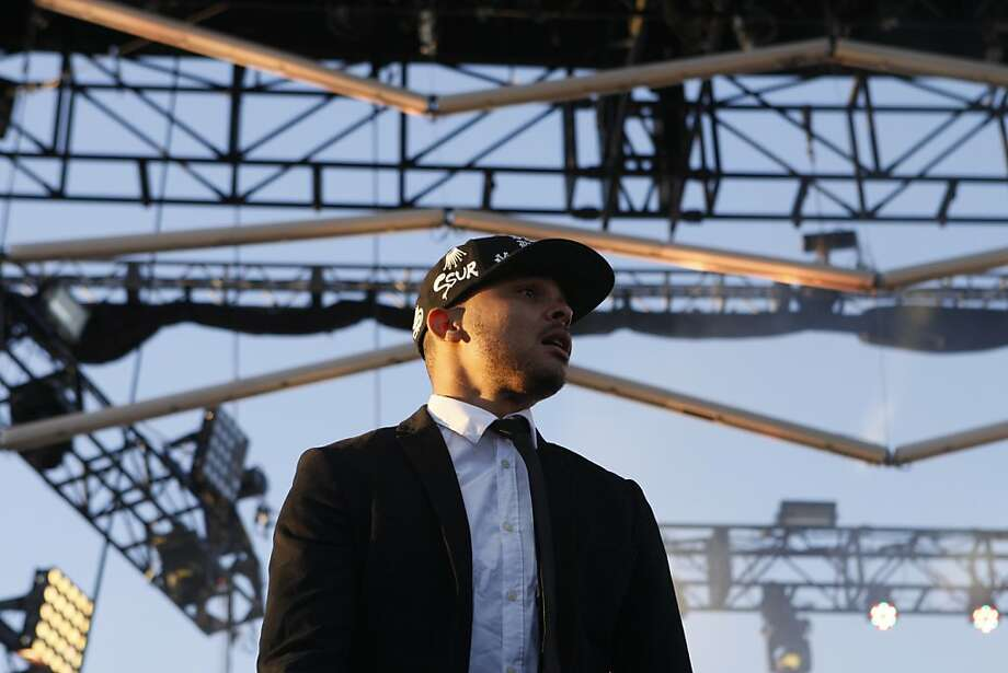Walshy Fire of Major Lazer performs at the Treasure Island Music Festival in San Francisco, Calif. on Saturday, Oct. 19, 2013. Photo: Raphael Kluzniok, The Chronicle