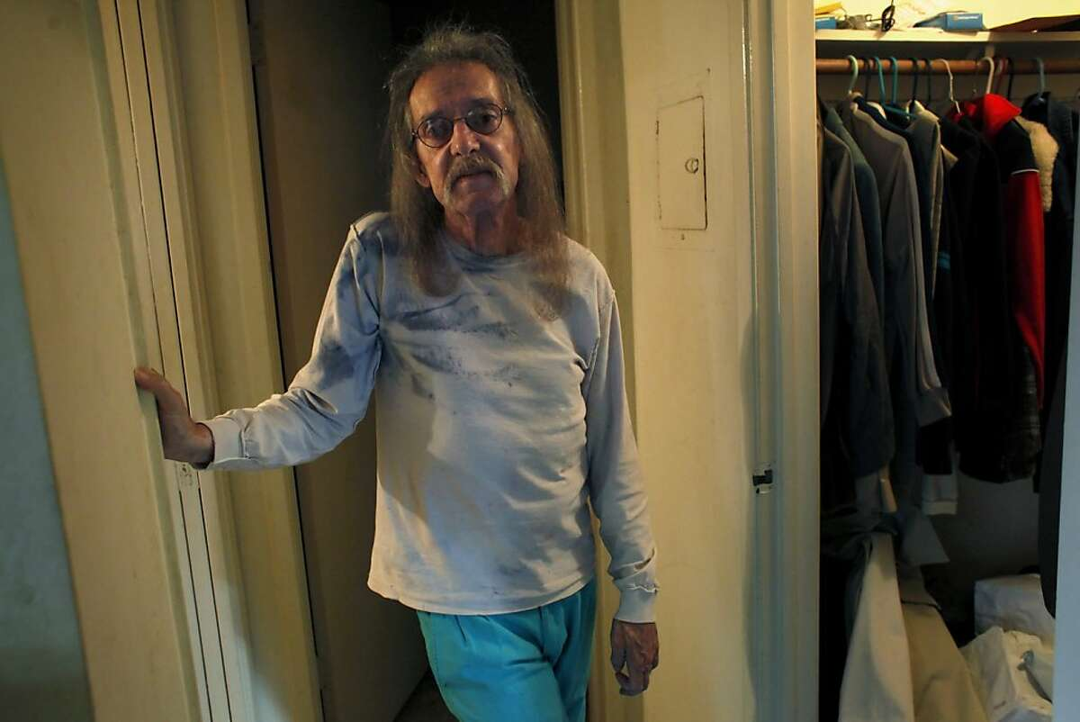 Ken McCraney, 62, sits in his apartment, Thursday October 3, 2013, in San Jose, Calif. McCraney, who has been suffering with anorexia since he was in his teens.
