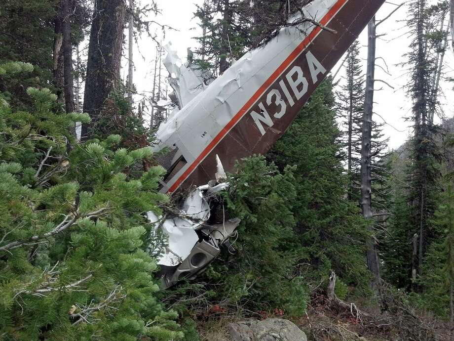 In a photo provided by Yellowstone National Park, the Piper 180 single-engine plane that Jim Betzold was flying when it crashed Friday evening, OCt. 11, 2013,  is seen where after it was found in Yellowstone National Park Saturday, Oct. 12, 2013.  Betzold and his son Douglas, 25, both survived with some injuries and severe cuts. Photo: Anonymous, AP / Yellowstone National Park