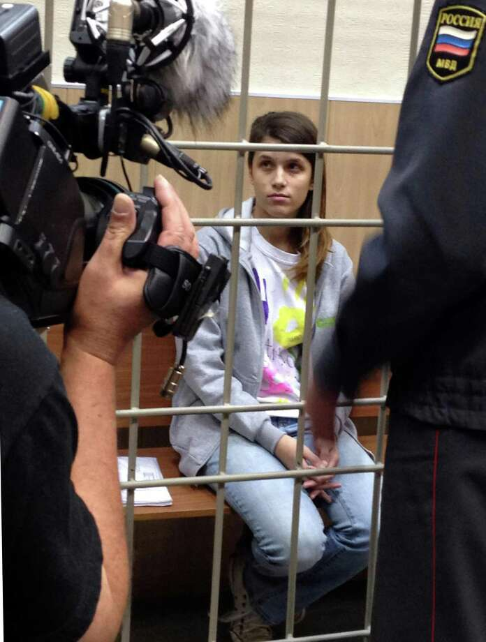 In this photo released by Greenpeace International,   activist Camila Speziale from Argentina, at her  bail hearing,  at a court in Murmansk, Russia, Monday, Oct. 14, 2013. The Murmansk regional court on Monday dismissed an appeal of an Argentine Greenpeace activist, Camila Speziale, who was detained onboard the Arctic Sunrise ship on September 18. The court supported the request of the prosecutors and investigators who said that any other measure of restraint could help the woman to influence the investigation and escape from justice. Photo: Dmitri Sharomov, AP / AP2013