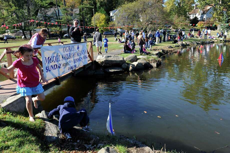 Old Greenwich- Riverside Civic Center's 51st annual Model Saiboat Regatta in Binney Park, Conn., Sunday, Oct. 20, 2013. Photo: Helen Neafsey / Greenwich Time