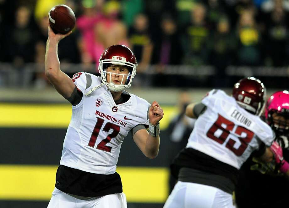 Washington State's Connor Halliday had an FBS-record 89 pass attempts in the Cougars' loss at Oregon on Saturday. Photo: Steve Dykes, Getty Images
