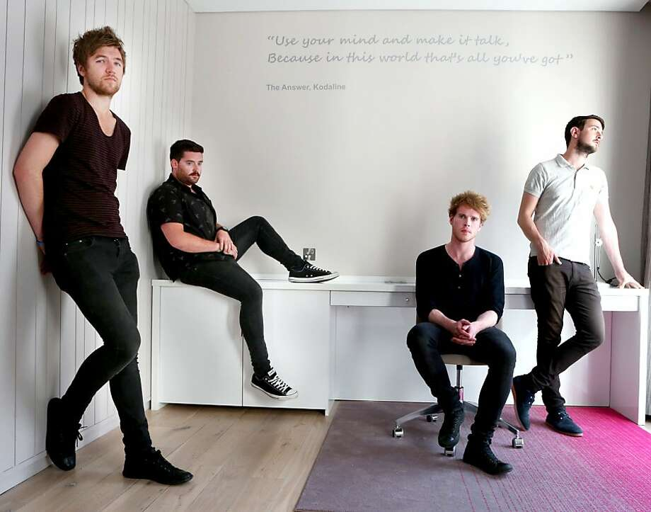 Kodaline. NO REPRO FEE 22/07/13 Kodaline. Pictured (l to r) are members of Irish band Kodaline; Mark Prendergast, Vincent May, Steve Garrigan and Jason Boland. They are pictured at The Morrison Hotel for the unveiling of the new Kodaline lyric on the wall of room number 235. Picture: Leon Farrell / Photocall Ireland Photo: Leon Farrell, RCA