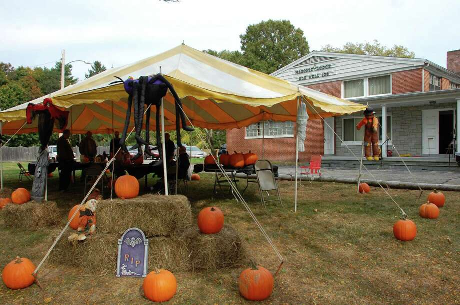 The Old Well-St. Johnís Masonic Lodge held a pumpkin decorating event and open house Saturday, largely to share information about its work and brotherhood with neighbors, and invite new members to join. Photo: Jarret Liotta / Norwalk Citizen contributed