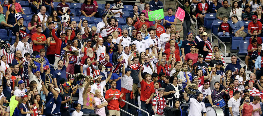 Soccer fans cheer during an international friendly soccer match between the United States of America and Australia Sunday Oct. 20, 2013 at the Alamodome. The USA won 4-0. Photo: Edward A. Ornelas, San Antonio Express-News / © 2013 San Antonio Express-News