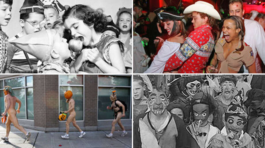Here's a look at Seattle Halloweens of years past. Think scary children, creepy clowns.