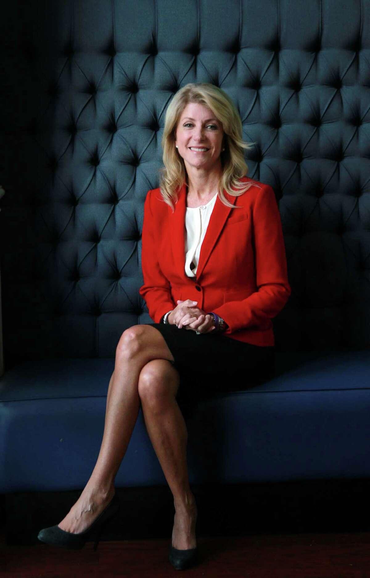 Texas Senator Wendy Davis is interviewed by La Voz at Hotel Indigo on Wednesday, Oct. 9, 2013, in Houston. ( Mayra Beltran / Houston Chronicle )