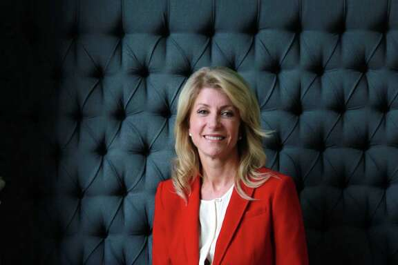 Texas Senator Wendy Davis is interviewed by La Voz at Hotel Indigo on Wednesday, Oct. 9, 2013, in Houston. ( Mayra Beltran / Houston Chronicle )
