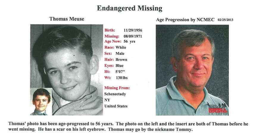 Age progression photograph of Thomas Meuse.