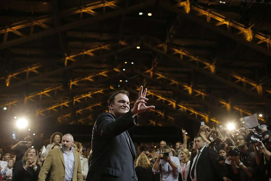 Director Quentin Tarantino poses for photographers during the closing ceremony of the 5th edition of the Lumiere Festival, in Lyon, central France, Sunday, Oct. 20, 2013. (AP Photo/Laurent Cipriani) Photo: Laurent Cipriani, Associated Press