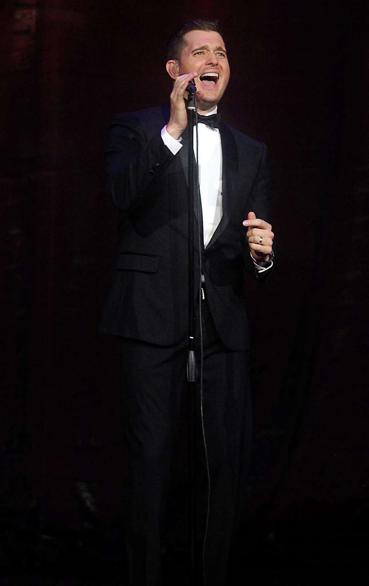 Michael Buble performs at the Toyota Center Sunday Oct. 20,2013. (Dave Rossman photo)