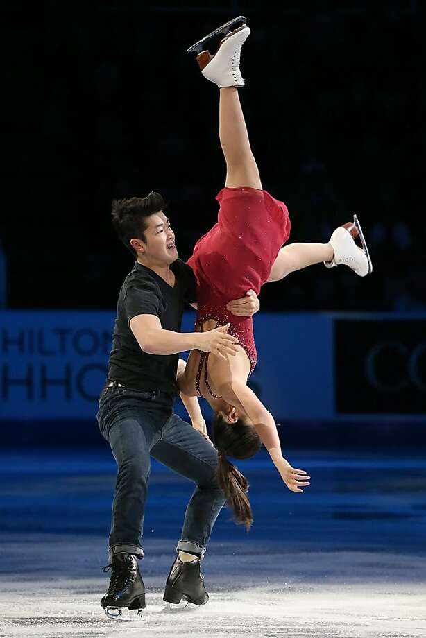 DETROIT, MI - OCTOBER 20: Mia Shibutani and Alex Shibutani of the USA perform during Smucker's Skating Spectacular on day three at Skate America at Joe Louis Arena on October 20, 2013 in Detroit, Michigan. (Photo by Dave Reginek/Getty Images) Photo: Dave Reginek, Getty Images