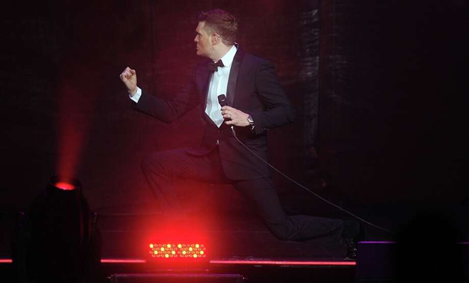 Michael Buble performs at the Toyota Center Sunday  Oct. 20,2013. Photo: Dave Rossman, For The Chronicle / © 2013 Dave Rossman