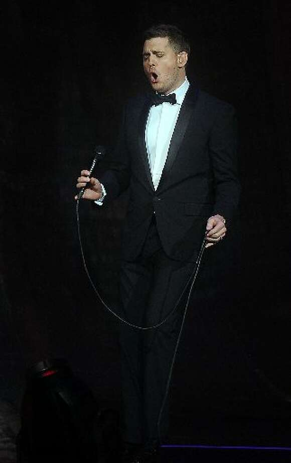 Michael Buble performs at the Toyota Center Sunday  Oct. 20,2013. Photo: Dave Rossman, For The Chronicle