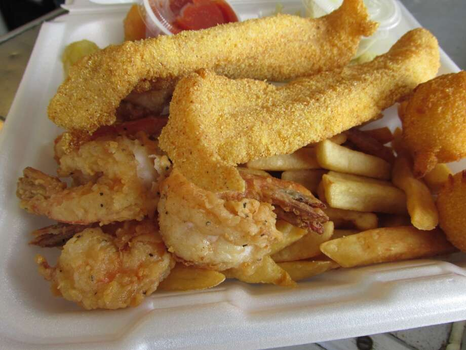Catfish dinner with shrimp at the Hushpuppy in Vidor. Photo: Cat5