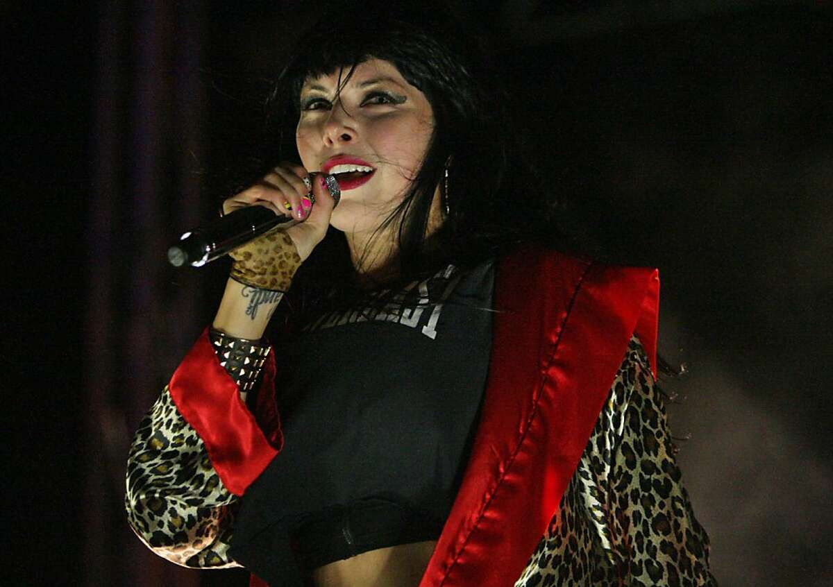 Alexis Krauss of Sleigh Bells performs at the Treasure Island Music Festival in San Francisco, Calif. on Sunday, Oct. 20, 2013.
