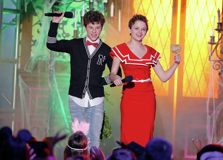 "Nolan Gould, left, and Joey King appear onstage at ""Hub Network's First Annual Halloween Bash"" on Sunday, Oct. 20, 2013, at the Barker Hanger in Santa Monica, Calif. The star-studded special will be broadcasted on the Hub Network on Saturday Oct. 26, 2013. Photo: Todd Williamson, Invision For The Hub Network / Invision2013"
