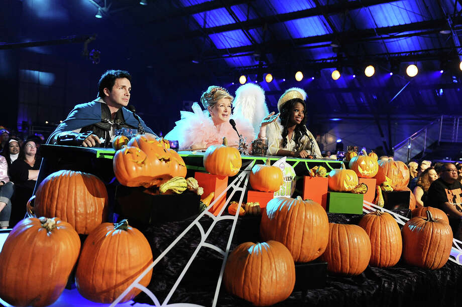 """From left, judges Hal Sparks, Martha Stewart, and Coco Jones at """"Hub Network's First Annual Halloween Bash"""" on Sunday, Oct. 20, 2013, at the Barker Hanger in Santa Monica, Calif. The star-studded special will be broadcasted on the Hub Network on Saturday Oct. 26, 2013. Photo: Jordan Strauss, Jordan Strauss/Invision/AP / Invision"""